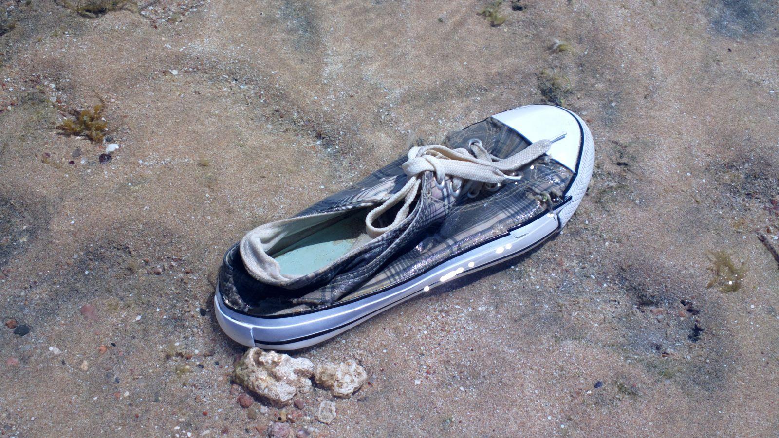 Scarpa abbandonata