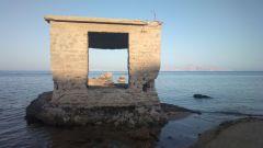Casupola di riparo per i pescatori